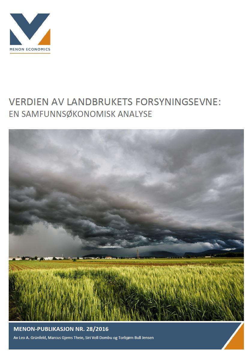 Verdien Av Landbrukets Forsyningsevne: En Samfunnsøkonomisk Analyse