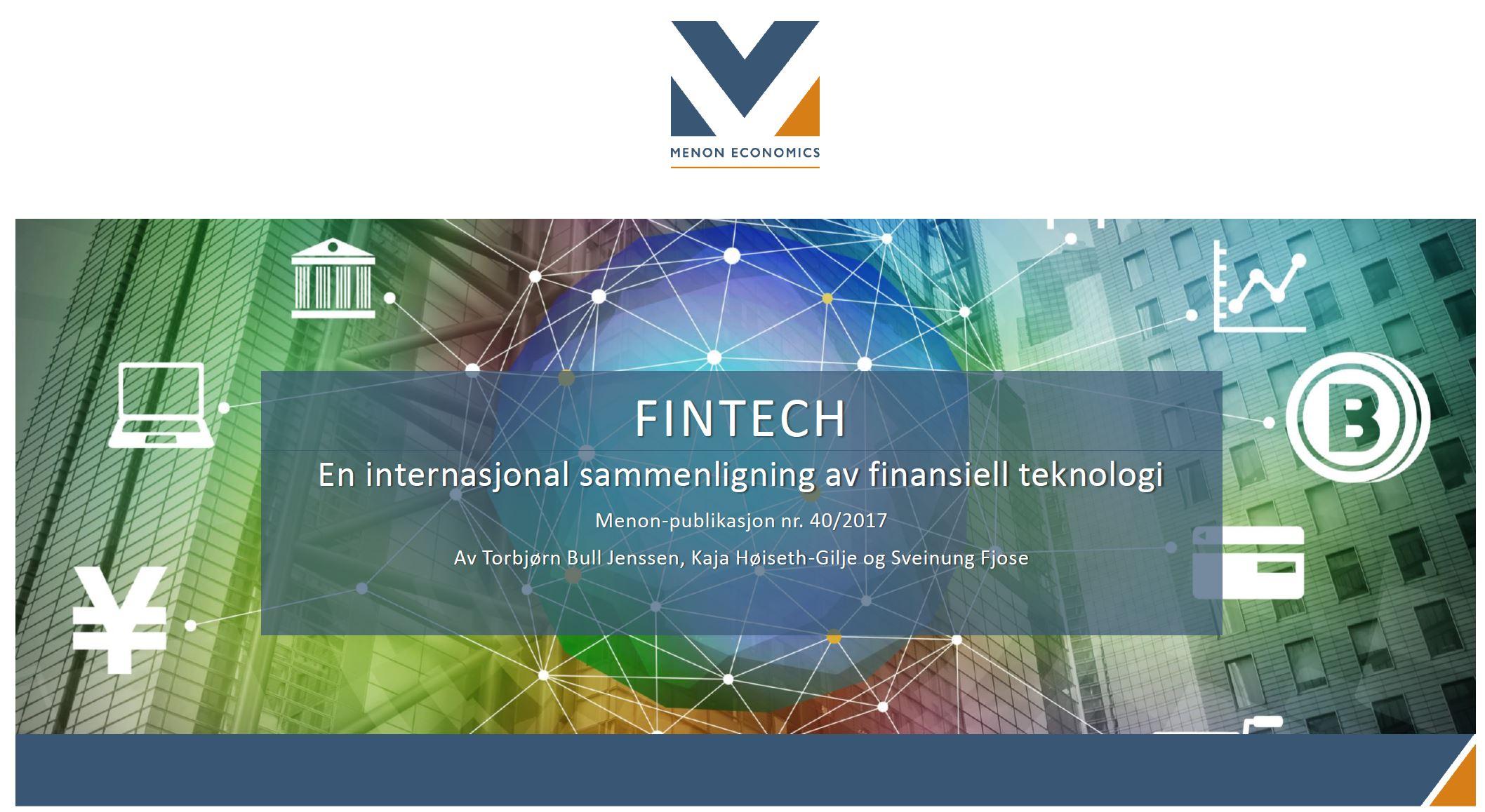 En Internasjonal Sammenligning Av Finansiell Teknologi