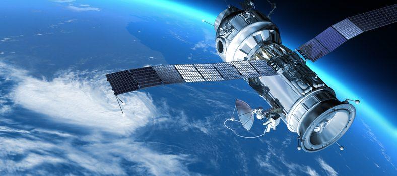 """My Design Space Station On Earth Orbit. The Satellite Has Severalcommunication  Anten.Also It Maybe SPY, GPS Satelite."""