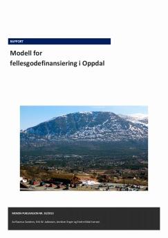 Modell for fellesgodefinansiering i Oppdal